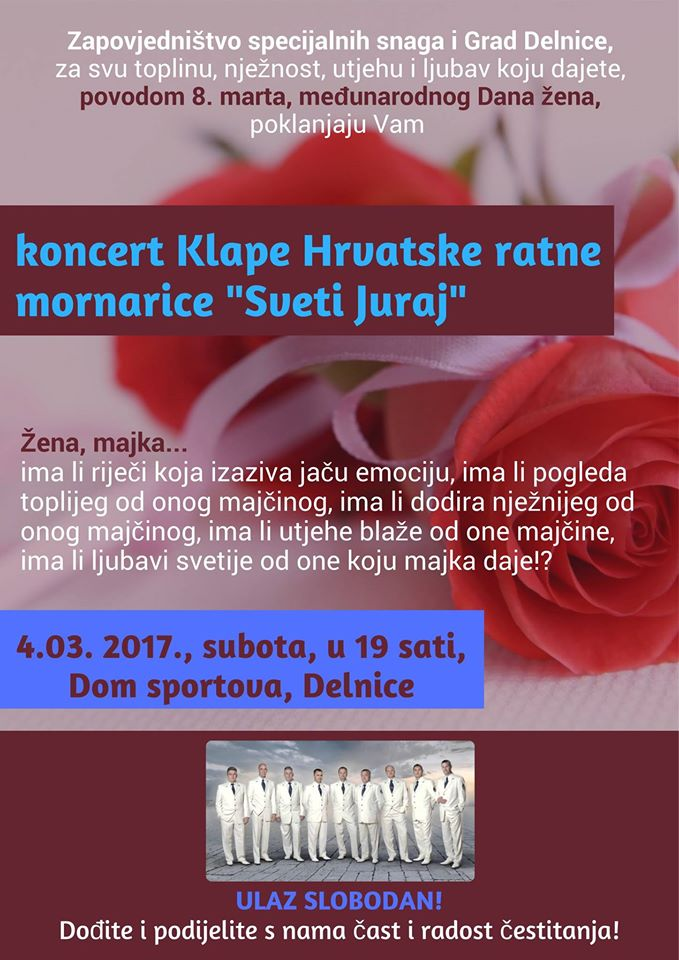 """Koncert Klape Hrvatske ratne mornarice """"Sveti Juraj"""""""
