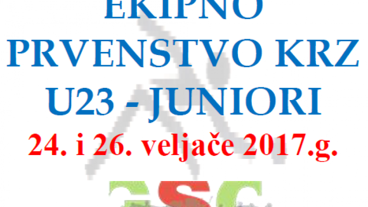 EKIPNO PRVENSTVO KRZ U23 – JUNIORI