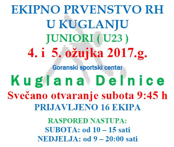 EKIPNO PRVENSTVO RH U KUGLANJU (JUNIORI U20)