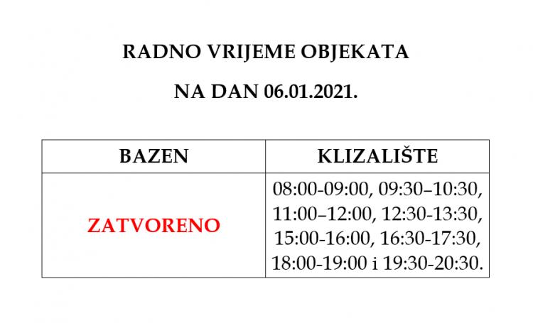 radno vrijeme 06.01.2021